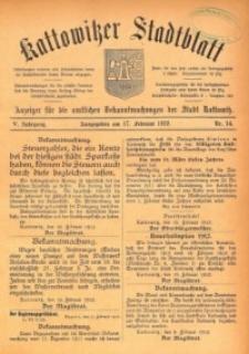 Kattowitzer Stadtblatt, 1912, Jg. 5, nr14