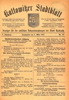 Kattowitzer Stadtblatt, 1912, Jg. 5, nr20