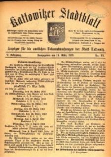 Kattowitzer Stadtblatt, 1912, Jg. 5, nr22