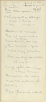 Notatki ze zgromadzenia wyborczego w Pietwałdzie z dnia 12.01.1913 r., notatki dotyczące wyborów oraz kartka wyborcza