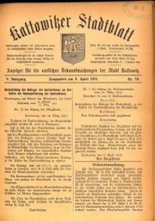 Kattowitzer Stadtblatt, 1912, Jg. 5, nr28
