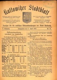 Kattowitzer Stadtblatt, 1912, Jg. 5, nr31