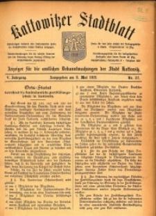 Kattowitzer Stadtblatt, 1912, Jg. 5, nr37