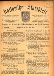 Kattowitzer Stadtblatt, 1912, Jg. 5, nr48