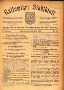 Kattowitzer Stadtblatt, 1912, Jg. 5, nr50