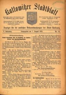 Kattowitzer Stadtblatt, 1912, Jg. 5, nr63
