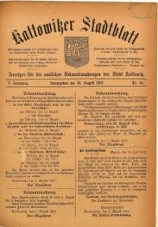 Kattowitzer Stadtblatt, 1912, Jg. 5, nr64