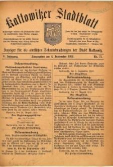 Kattowitzer Stadtblatt, 1912, Jg. 5, nr71