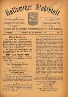 Kattowitzer Stadtblatt, 1912, Jg. 5, nr78