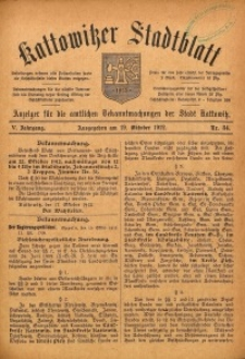 Kattowitzer Stadtblatt, 1912, Jg. 5, nr84