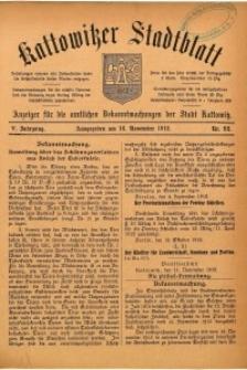 Kattowitzer Stadtblatt, 1912, Jg. 5, nr92