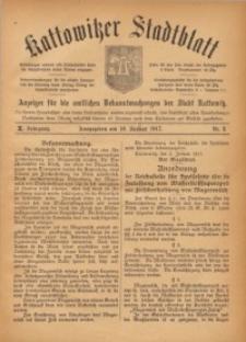 Kattowitzer Stadtblatt, 1917, Jg. 10, nr2