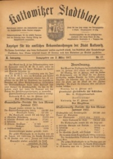 Kattowitzer Stadtblatt, 1917, Jg. 10, nr17