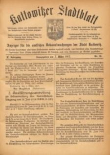Kattowitzer Stadtblatt, 1917, Jg. 10, nr18