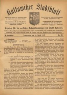 Kattowitzer Stadtblatt, 1917, Jg. 10, nr28
