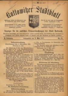 Kattowitzer Stadtblatt, 1917, Jg. 10, nr35