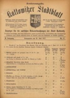 Kattowitzer Stadtblatt, 1917, Jg. 10, nr57