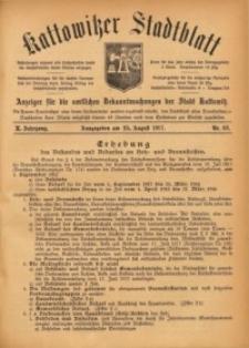Kattowitzer Stadtblatt, 1917, Jg. 10, nr68