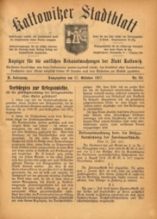 Kattowitzer Stadtblatt, 1917, Jg. 10, nr83