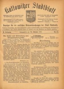 Kattowitzer Stadtblatt, 1917, Jg. 10, nr85