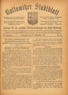 Kattowitzer Stadtblatt, 1917, Jg. 10, nr91