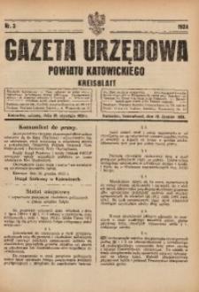 Gazeta Urzędowa Powiatu Katowickiego, 1924, nr3
