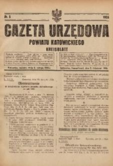 Gazeta Urzędowa Powiatu Katowickiego, 1924, nr5