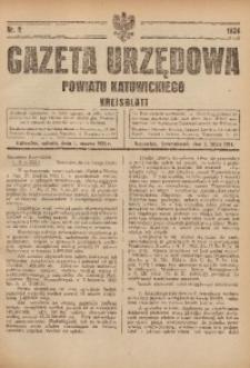 Gazeta Urzędowa Powiatu Katowickiego, 1924, nr9