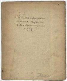 In hoc libello conscripti sunt census et utilitates Monasterii Sanctae Mariae Canonicorum Regularium de Rudnitz