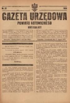 Gazeta Urzędowa Powiatu Katowickiego, 1924, nr27
