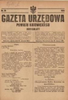Gazeta Urzędowa Powiatu Katowickiego, 1924, nr29