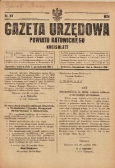 Gazeta Urzędowa Powiatu Katowickiego, 1924, nr33