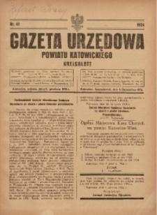 Gazeta Urzędowa Powiatu Katowickiego, 1924, nr41