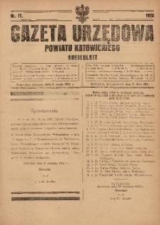 Gazeta Urzędowa Powiatu Katowickiego, 1925, nr17