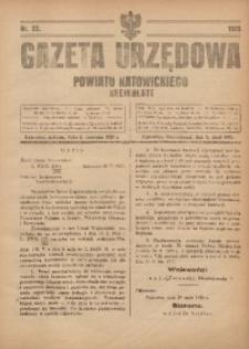 Gazeta Urzędowa Powiatu Katowickiego, 1925, nr22