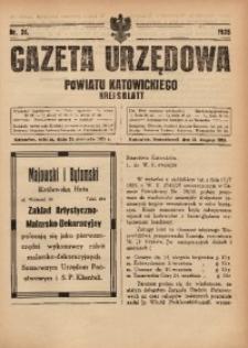 Gazeta Urzędowa Powiatu Katowickiego, 1925, nr31