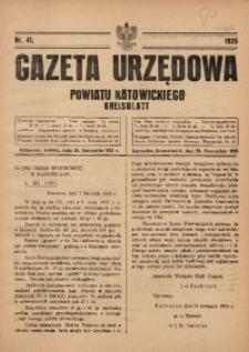 Gazeta Urzędowa Powiatu Katowickiego, 1925, nr41