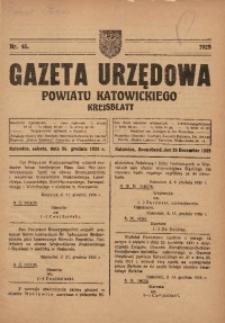 Gazeta Urzędowa Powiatu Katowickiego, 1925, nr45