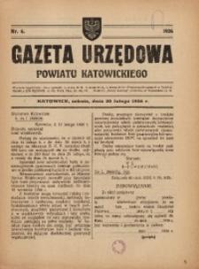 Gazeta Urzędowa Powiatu Katowickiego, 1926, nr6