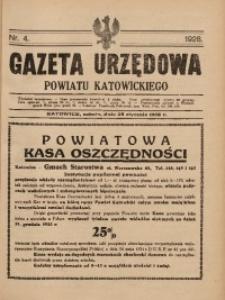Gazeta Urzędowa Powiatu Katowickiego, 1928, nr4