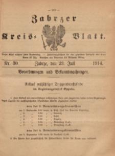 Zabrzer Kreis-Blatt, 1914, St. 30