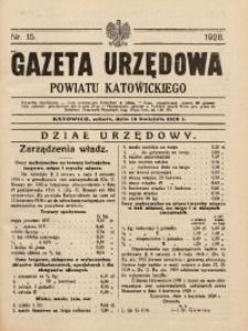 Gazeta Urzędowa Powiatu Katowickiego, 1928, nr15