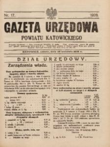 Gazeta Urzędowa Powiatu Katowickiego, 1928, nr17
