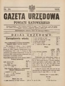 Gazeta Urzędowa Powiatu Katowickiego, 1928, nr24