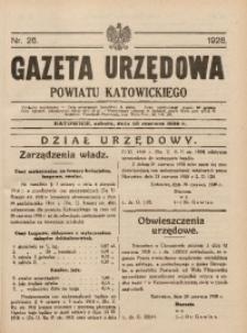Gazeta Urzędowa Powiatu Katowickiego, 1928, nr26
