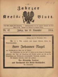 Zabrzer Kreis-Blatt, 1914, St. 47