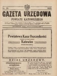 Gazeta Urzędowa Powiatu Katowickiego, 1928, nr36
