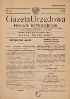 Gazeta Urzędowa Powiatu Katowickiego, 1936, nr4