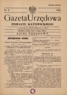 Gazeta Urzędowa Powiatu Katowickiego, 1936, nr6