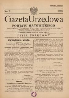 Gazeta Urzędowa Powiatu Katowickiego, 1936, nr7